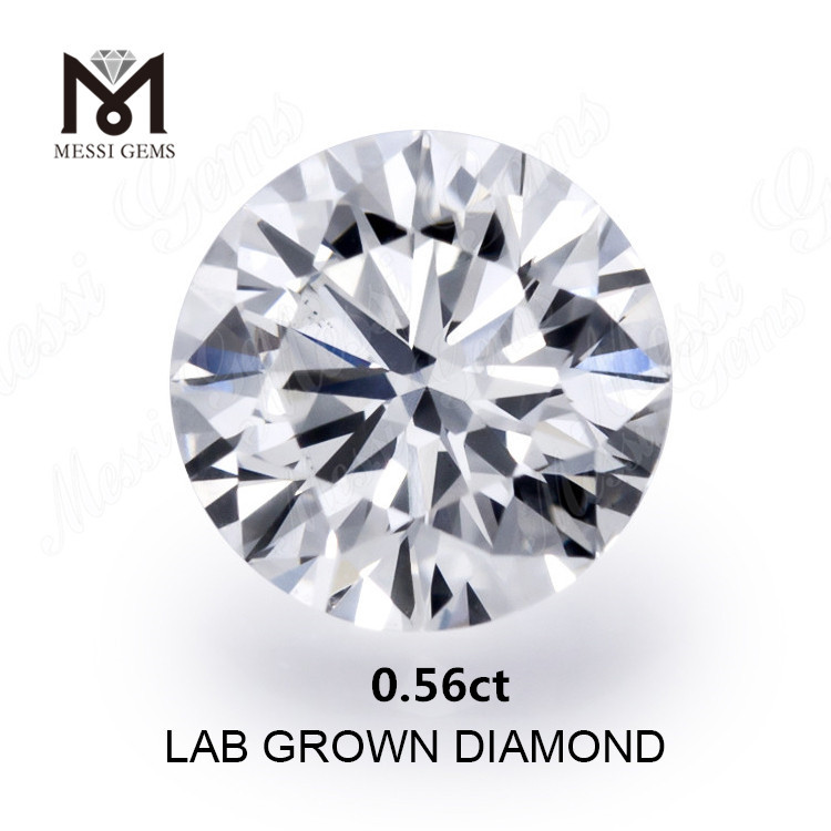 0.56ct created diamond white F VVS2