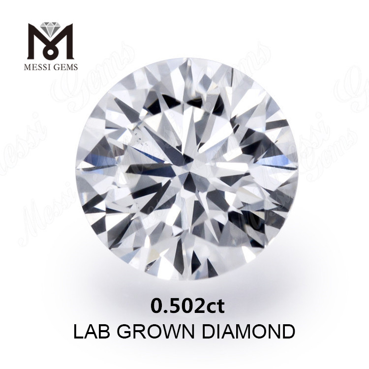 0.502ct created diamond white D VS2