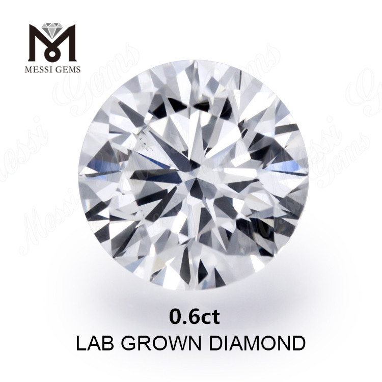 0.6ct lab diamond F white VVS2 EX loose diamond
