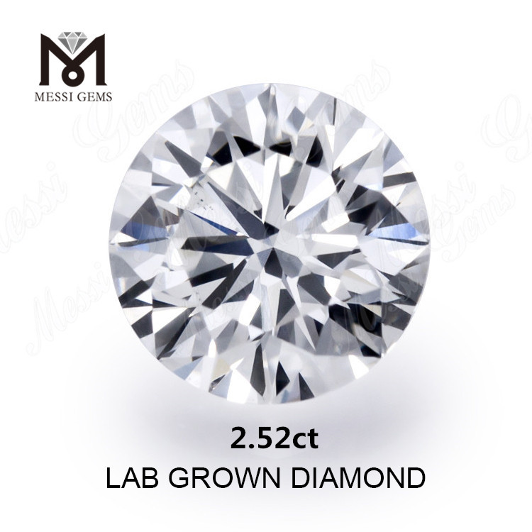 2.52ct synthetic diamond white G VVS2
