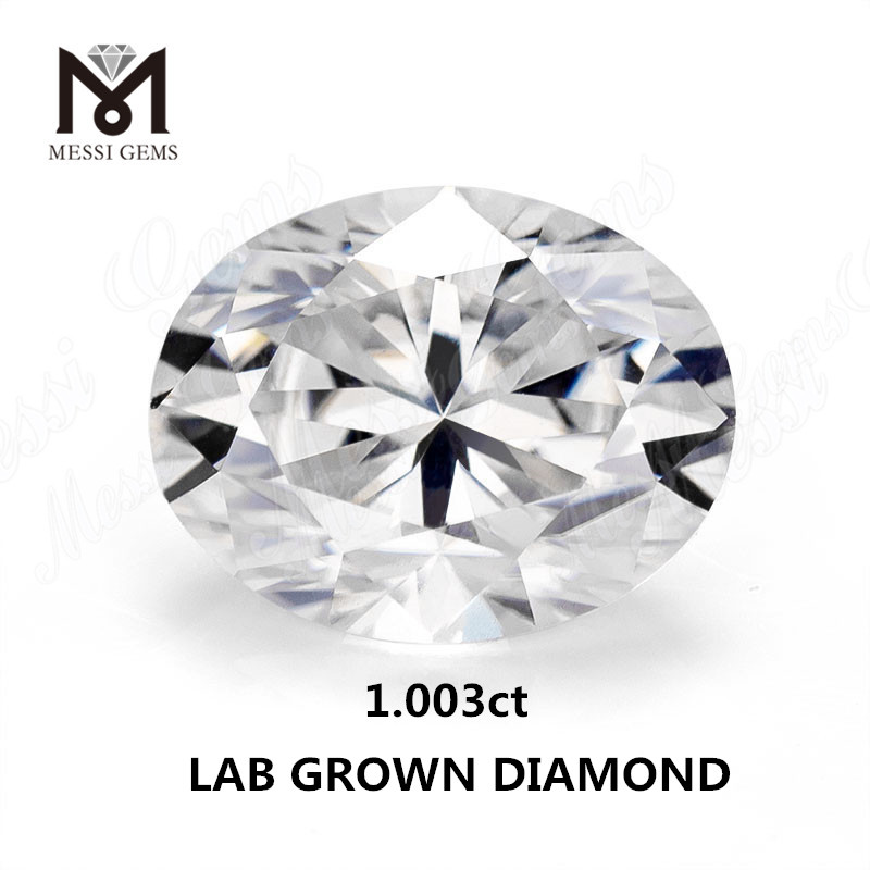 1.003ct lab made diamond white F VVS2 Synthetic diamond