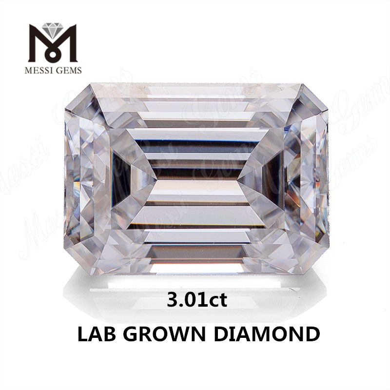 3.01ct lab made diamond white GH VS EX SYN.diamond