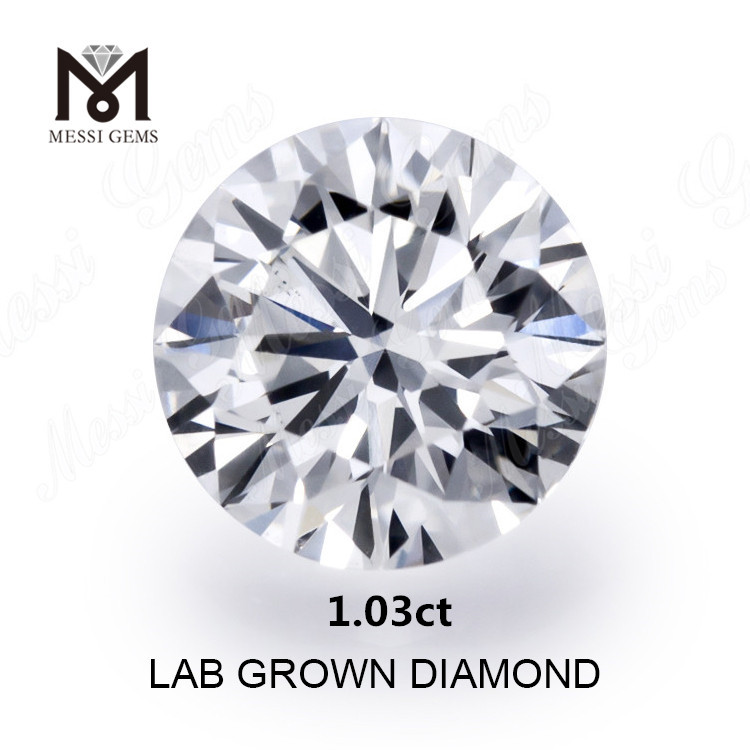 1.03ct synthetic diamond white K VS lab grown diamonds