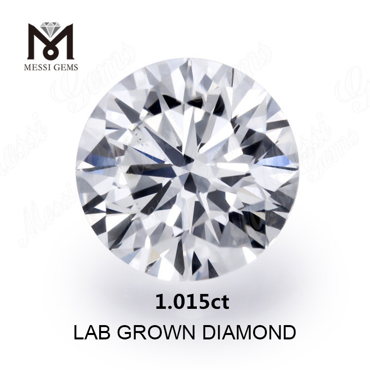 1.105ct synthetic diamond white K SI1 Synthetic diamond