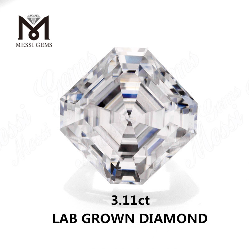 3.11ct lab made diamond ASSCH white E VVS1 CVD Synthetic diamond