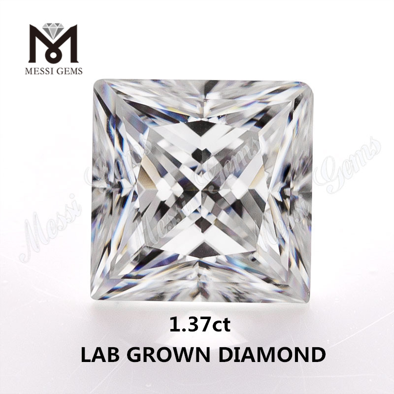 1.37ct lab made diamond white IJ VVS Synthetic diamond