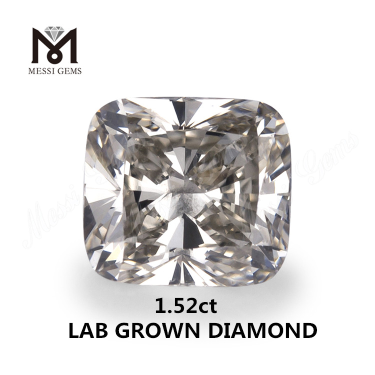 1.52ct lab made diamond white IJ SI EX CUSHION SYN.diamond